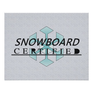TOP Snowboard Certified Poster