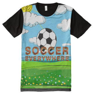 TOP Soccer Everywhere All-Over Print Shirt