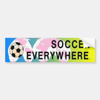 TOP Soccer Everywhere Bumper Sticker