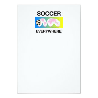 TOP Soccer Everywhere 5x7 Paper Invitation Card