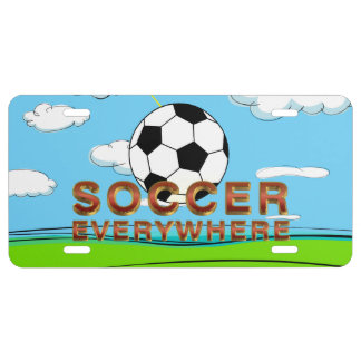 TOP Soccer Everywhere License Plate
