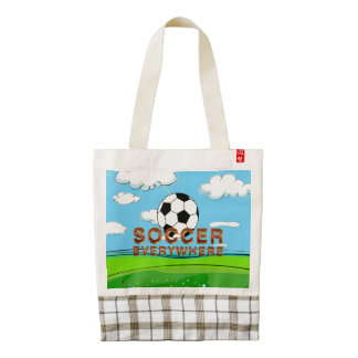TOP Soccer Everywhere Zazzle HEART Tote Bag