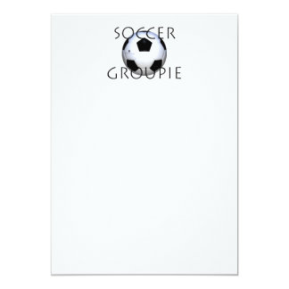 TOP Soccer Groupie 5x7 Paper Invitation Card