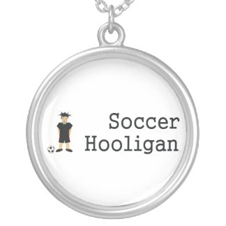 TOP Soccer Hooligan Round Pendant Necklace