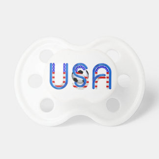 TOP Soccer USA Baby Pacifiers