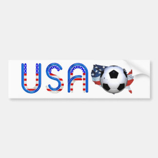 TOP Soccer USA Car Bumper Sticker