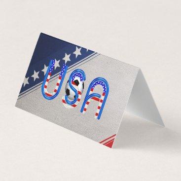 USA Themed TOP Soccer USA Business Card