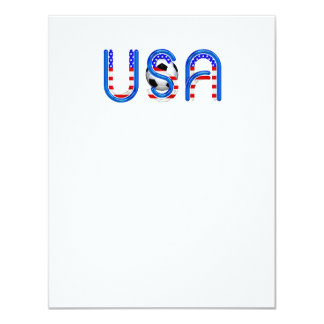 TOP Soccer USA 4.25x5.5 Paper Invitation Card