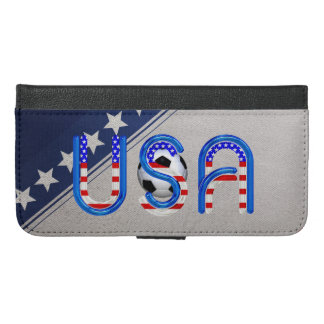 TOP Soccer USA iPhone 6/6s Plus Wallet Case