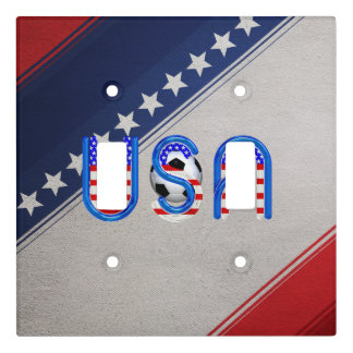 TOP Soccer USA Light Switch Cover