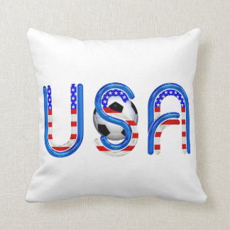 TOP Soccer USA Throw Pillow