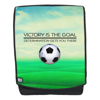 TOP Soccer Victory Slogan Backpack