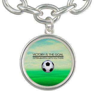 TOP Soccer Victory Slogan Bracelets