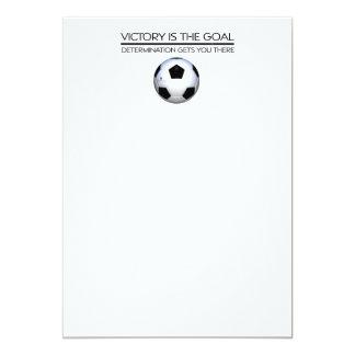 TOP Soccer Victory Slogan Card