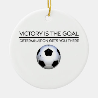 TOP Soccer Victory Slogan Ceramic Ornament