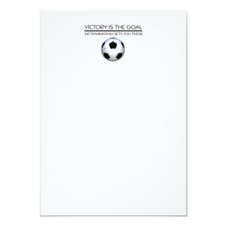 TOP Soccer Victory Slogan 5x7 Paper Invitation Card