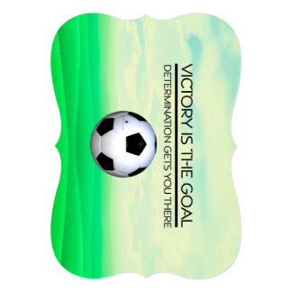 TOP Soccer Victory Slogan Customized Invitation Cards