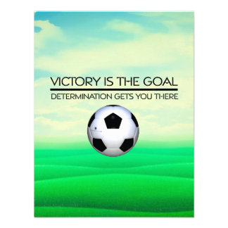 TOP Soccer Victory Slogan Personalized Invitations