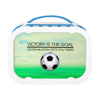 TOP Soccer Victory Slogan Lunch Box