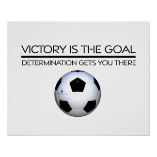 TOP Soccer Victory Slogan Poster
