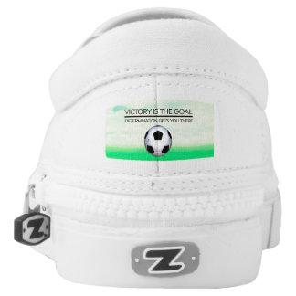 TOP Soccer Victory Slogan Slip-On Sneakers