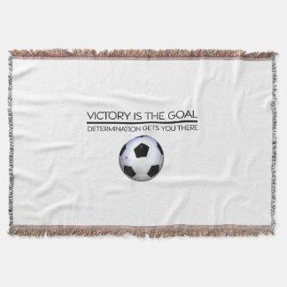 TOP Soccer Victory Slogan Throw Blanket