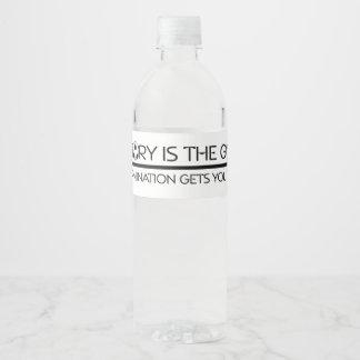 TOP Soccer Victory Slogan Water Bottle Label
