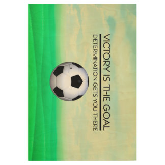 TOP Soccer Victory Slogan Wood Poster