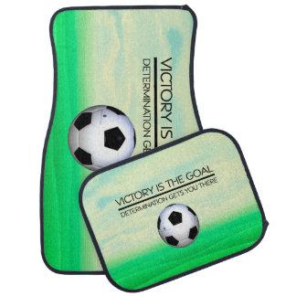 TOP Soccer Victory Slogan Floor Mat