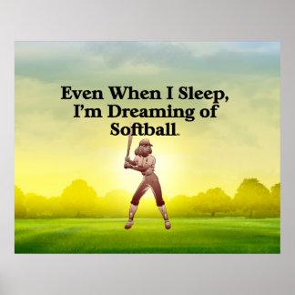 TOP Softball Dreams Print