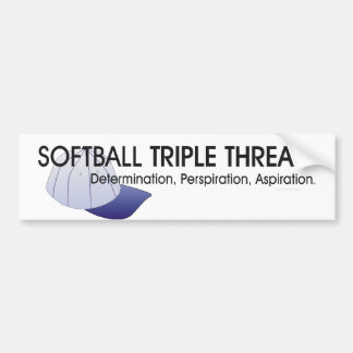 TOP Softball Triple Threat Bumper Stickers