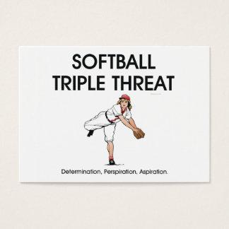 TOP Softball Triple Threat Business Card