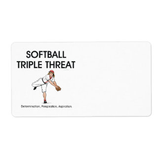 TOP Softball Triple Threat Shipping Label