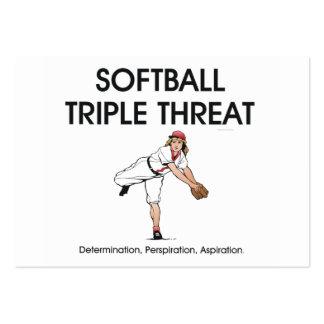 TOP Softball Triple Threat Large Business Card
