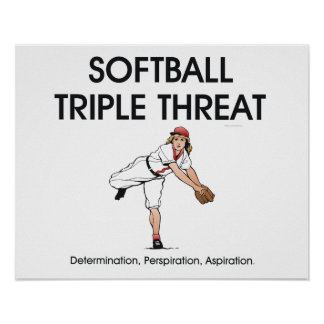 TOP Softball Triple Threat Poster