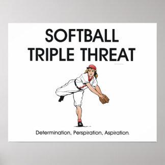 TOP Softball Triple Threat Poster
