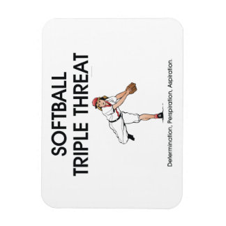 TOP Softball Triple Threat Rectangular Photo Magnet