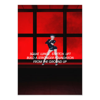 TOP Squat Slogan Card