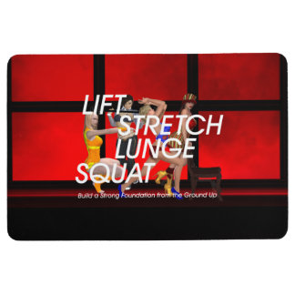 TOP Squat Slogan Floor Mat