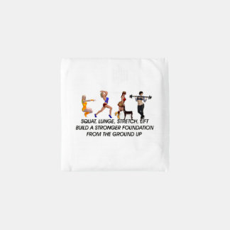 TOP Squat Slogan Reusable Bag