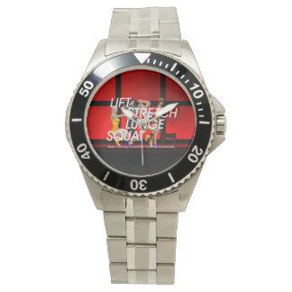 TOP Squat Slogan Watches