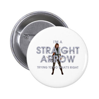 TOP Straight Arrow Pinback Buttons