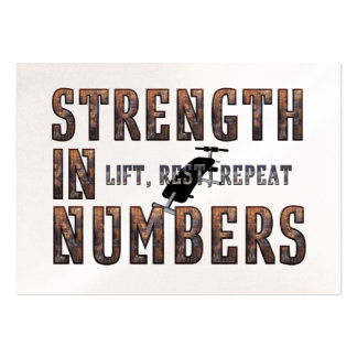 TOP Strength in Numbers Business Card Template