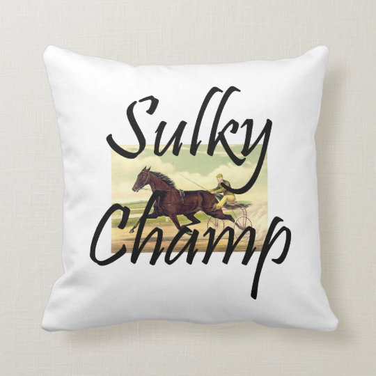 TOP Sulky Champ Throw Pillow