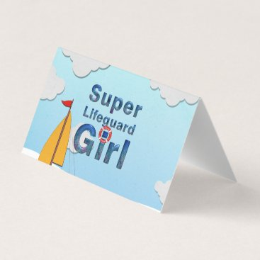 TOP Super Lifeguard Girl Business Card
