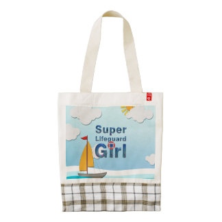 TOP Super Lifeguard Girl Zazzle HEART Tote Bag