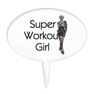 TOP Super Workout Girl Cake Topper