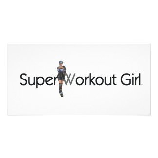 TOP Super Workout Girl Card