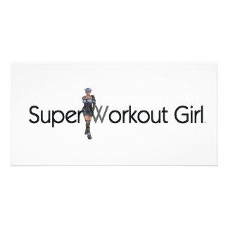 TOP Super Workout Girl Card
