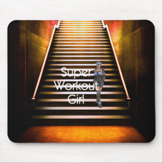TOP Super Workout Girl Mouse Pad